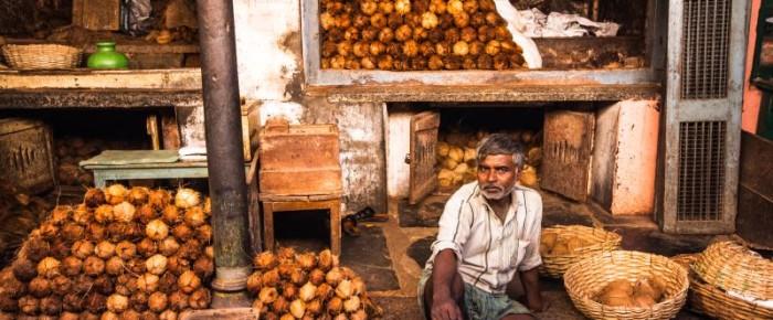 Fascinujúca atmosféra na indickom trhu v meste Mysor.