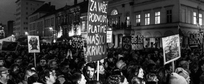 Košice – pochod za slušné Slovensko (fotogaléria)